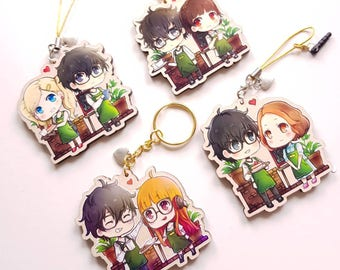 Persona 5 Couples Cafe Wooden Charms