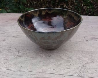 Ceramic Grey/Blue/Red brown bowl