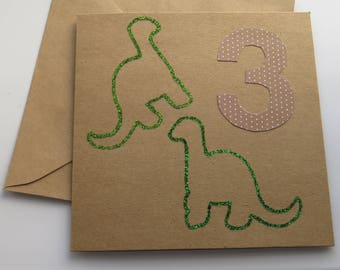 Handmade Birthday Card - 3rd Birthday Card - Birthday Card - Children's Card