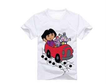 Dora in Car T-Shirt for children - available in many sizes and colors