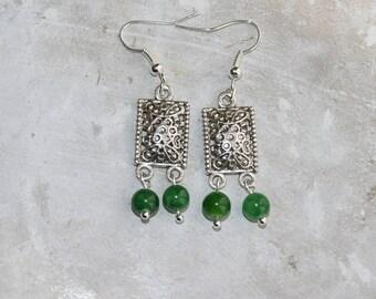 Dangle Silver earrings ethnic style