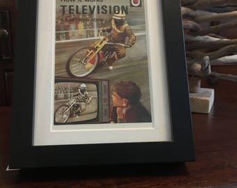 Retro Ladybird Book cover Framed. Television