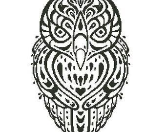 Old Owl Cross Stitch Chart