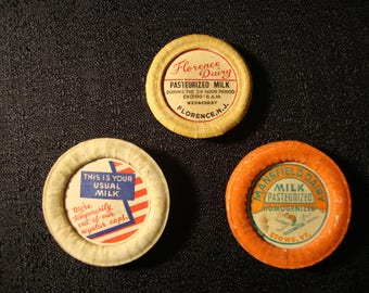 Milk cap Magnets, set of 3