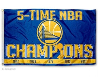 Golden State Warriors 5-time Champion Flag (3' x 5')