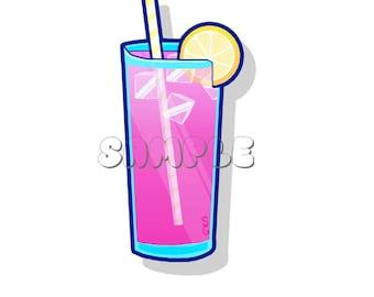 Pink Lemonade Glossy Sticker