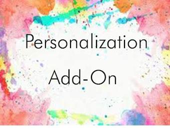 Customize Personalization - Add On