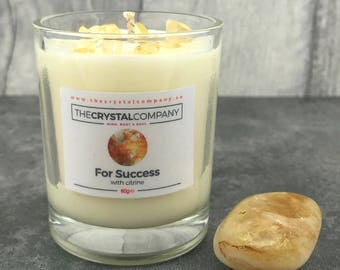 "Citrine Candle ""For Success"""