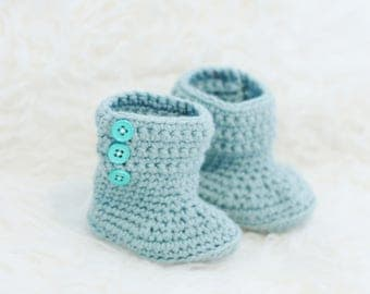 Custom Baby Shoes, Crochet Baby Booties, Knit Baby Girl Shoes, Crochet Baby Shoes, Baby Gift, Gift for New Mom, Crib Shoes - BB3