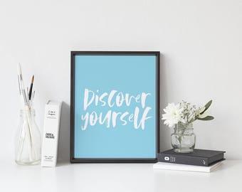 Bedroom decor, printable art, instant download, blue bedroom wall art, instant printable wall art, typography art, quote print, wall decor