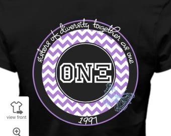 Sisters Theta Nu Xi Multicultural Sorority Inc. Shirt (Black)
