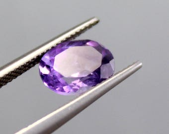 50% OFF!!!  Natural beautiful Purple Amethyst 2.20 CTS Natural African Amethyst Smooth Oval Faceted Loose Gemstone 10x8x5mm
