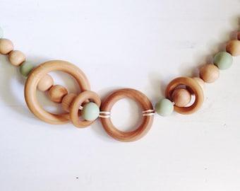 Pram Garland - The Heavenlies | Moses Basket Toy | Pram Chain | Wood Stroller Toy | Baby Stroller Garland | Kinderwagenkette | Handcrafted