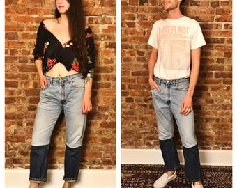 vintage LEVIS reworked with bottom panel
