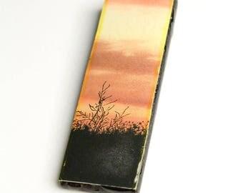 Prairie Sky #1 Wooden Pendant