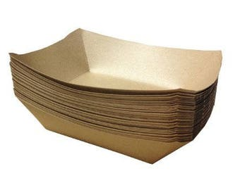 Brown Paper Food Trays 50 Pcs