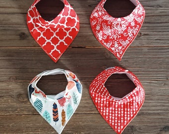 Baby Bib - Bandana Bib - Organic cotton Bib - Dribble Bib - Drool Bib – Adjustable Bib - Baby Bib Set - Baby Shower Gift