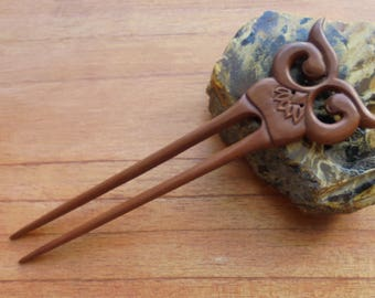 2 Prongs Owl Wood Hair Sticks, Hair Pin, Hair Fork, Hair Accessories HS118