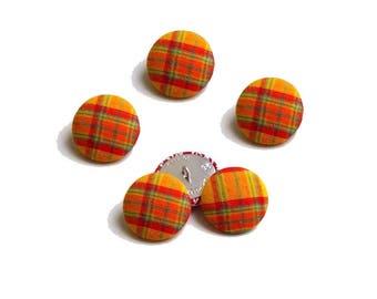 Scottish buttons orange 28 mm x 5