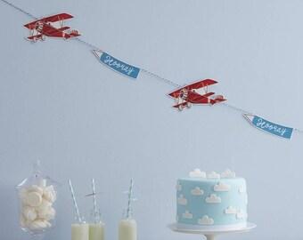 Flying High, Paper Plane Bunting, Birthday Party, 1st Birthday, Aeroplane Decorations, Plane Party, Plane Garland, Aeroplane decor
