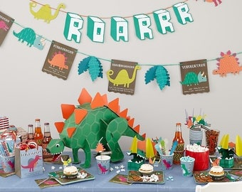 Dinosaur Party Bunting, Dinosaur Garland, Party Garland, Dinosaur Party Decorations, Dinosaur party, Dinosaur party decor, 1st bithday