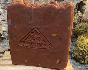 Handmade Rustic Soap – Frankincense, Bergamot, Basil