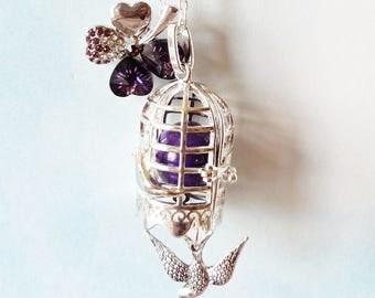 Pregnancy's Bola cage bird and clover Swarovski Crystal