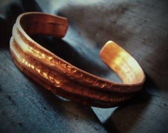 Copper Cuff Bracelet, Artisan bracelet.  (Code WB46)