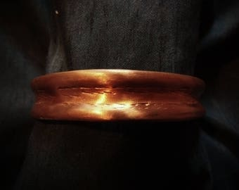 Copper cuff bracelet, Copper Jewelry, natural bracelet, Gaelic jewelry (WB55)