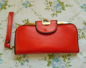 1960s mod wallet clutch purse
