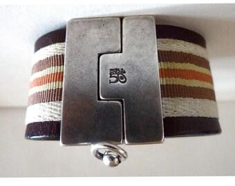 Uno De 50 Bracelet cuff. UNO de 50 Bangle; Vintage leather bracelet.