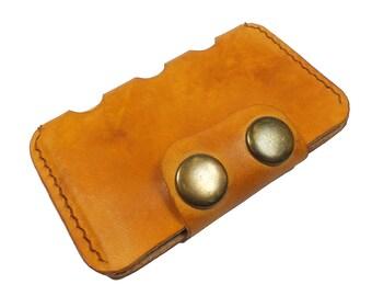 Leather card case, leather credit card holder, slim wallet, personalized wallet, mens front pocket wallet, mens leather wallet