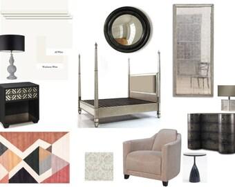 Online E-Design Service: Bedroom Design | Virtual Interior Design | E-Decorating | Interior Design Service | Bedroom Decor |Bespoke Design