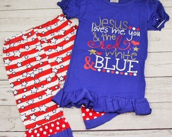 Jesus Loves You and the Red, White, and Blue