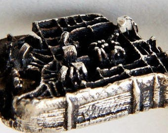 Istanbul Grand Bazaar City Replica Statement Ring, 925 Sterling Silver, City Architecture Jewelry