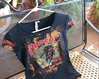 Vintage Blingy Western Rodeo T Shirt-Small