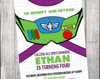 Buzz Lightyear Inspired Toy Story Invitation