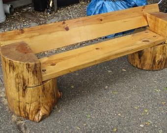 Rustic Pine Kids' Bench