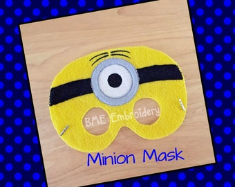 Minion Inspired Felt Mask- Child's Dress Up and Imaginary Play- Birthday Party Favor-Photo Shoot-Pretend Play-Theme Party-Minion Party