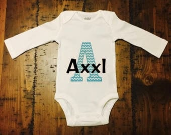 Name Baby Bodysuit, Long Sleeve Bodysuit, Short Sleeve Bodysuit, Baby Shower Gift, Newborn Gift, Birthday Gift, Custom Baby Bodysuit