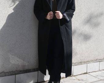 Blue Coat Wool- Winter Coat- Deep Blue Jacket- Long Elegant Coat