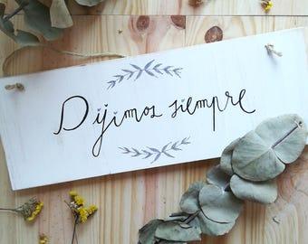 wood decor wedding welcome - vintage wedding- wedding presents