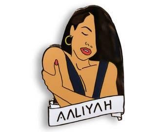 Aaliyah - Hard Polished Enamel Pin