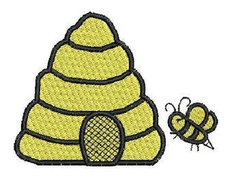 NeedleUp - Bee Hive embroidery design