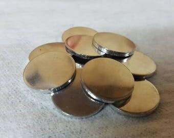 """3/4"""" 14g aluminum blank disks (25 pack)"""