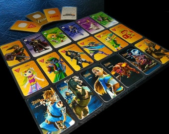 Full set of 18 Laminated Zelda Amiibo Cards, Premium Quality for Nintendo Switch and Wii U