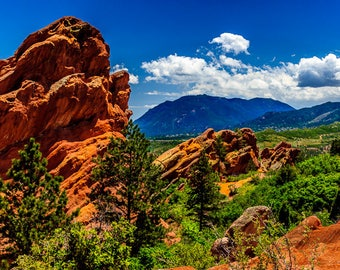 Garden of the Gods- Red Rock formations in Colorado