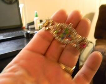 multicolored rhinestone bracelet