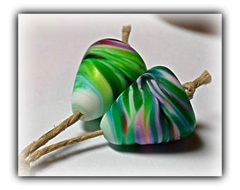 Bollywood Cones EARRING Pair Lampwork Beads