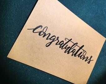 """jflow card / handwritten card """"Congratulations!"""""""